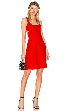 Bralette Midi Dress in Scarlet