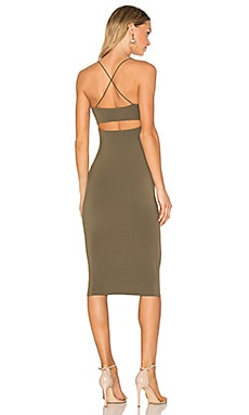 Strappy Tank Dress in Military