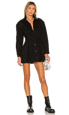 Fit And Flare Black Denim Jacket Dress T by Alexander Wang $395 Collections
