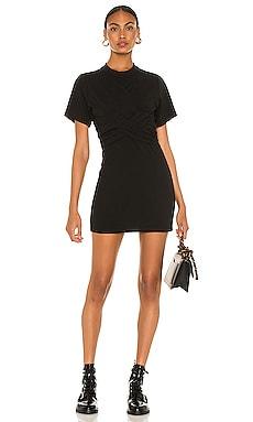 Cross Front Draped Tee Dress T by Alexander Wang $275