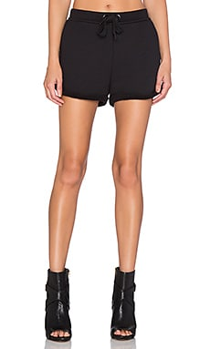 T by Alexander Wang French Terry Shorts in Black