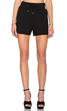 T by Alexander Wang Top Dyed Fleece High Waisted Shorts in Black
