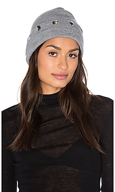 Cashwool Beanie in Heather Grey
