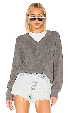 Bi Layer V Neck With Inner Tank Sweater T by Alexander Wang $193