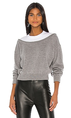 Peelaway Bi Layer Cropped Pullover T by Alexander Wang $365 NEW ARRIVAL