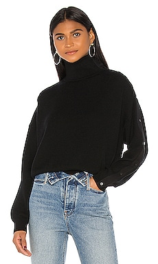 Snap Hybrid Cropped Turtleneck T by Alexander Wang $375