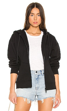 Sculpted Zip Up Hoodie T by Alexander Wang $325