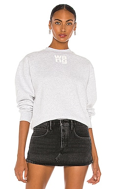 Foundation Terry Crewneck Sweatshirt T by Alexander Wang $185 NEW