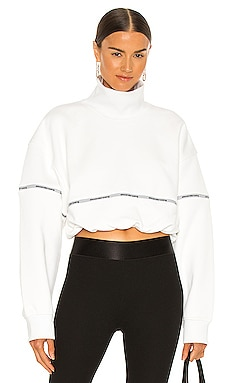 Cropped Bubble Hem Pullover T by Alexander Wang $325 NEW