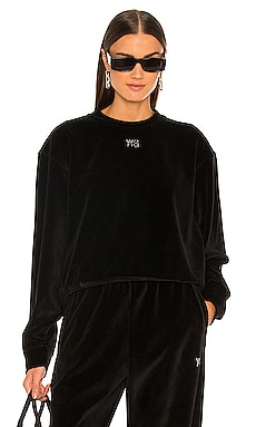 Crewneck Sweatshirt with Crystal Logo T by Alexander Wang $325 Collections