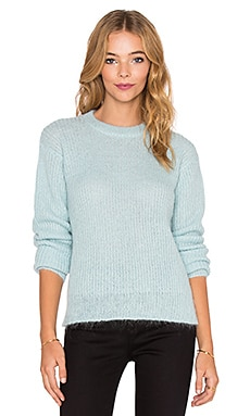 T by Alexander Wang Mohair Knit Crewneck Sweater in Glass