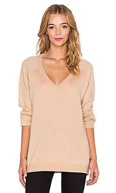 T by Alexander Wang Deep V Neck Sweater in Mannequin