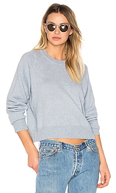 Cashwool Crewneck Crop Sweater en Chambray