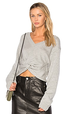Deep V Twist Sweater