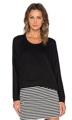 T by Alexander Wang French Terry Sweatshirt in Black