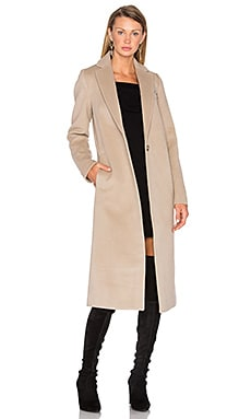 Draped Wool Car Coat em Mármore