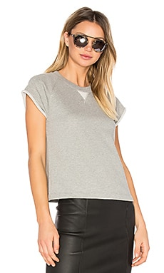 French Terry Raglan Sweatshirt en Gris Chiné