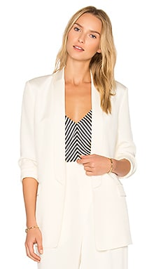Charmeuse Blazer in Ivory