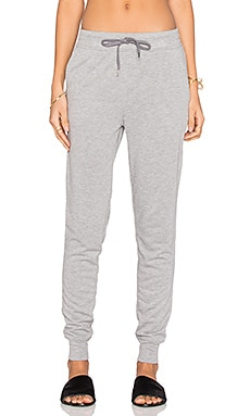 T by Alexander Wang Enzyme Washed French Terry Sweatpant in Heather Grey