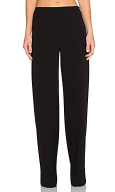 T by Alexander Wang Dobby Poly Twill Wide Leg Pants in Black