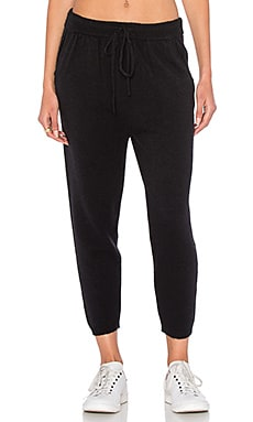 Cashwool Drop Crotch Sweatpant in Black