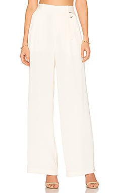Wide Leg Trouser in Ivory