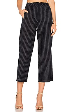 Edge Wide Leg Pant in Navy & White Stripe