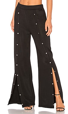 Sleek Snap Wide Leg Pant