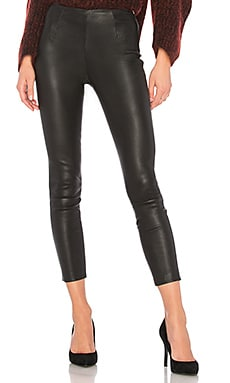 Crop Leather Legging