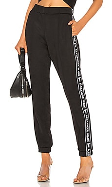 Sleek Logo Tape Track Pant T by Alexander Wang $395 NEW ARRIVAL