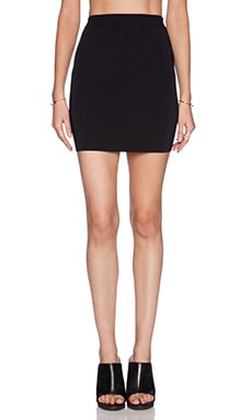 T by Alexander Wang Two Tone Fitted Pencil Skirt in Black