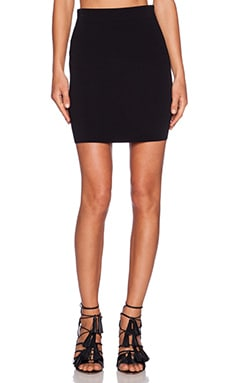 T by Alexander Wang Knit Pencil Skirt in Black