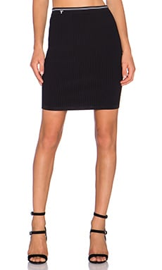 T by Alexander Wang Fitted Pencil Skirt in Black