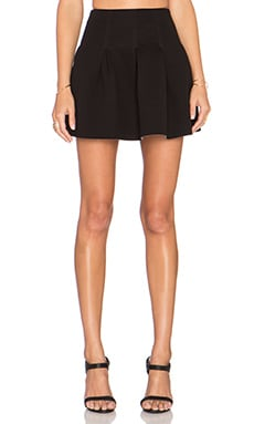 T by Alexander Wang Box Pleat Skirt in Black