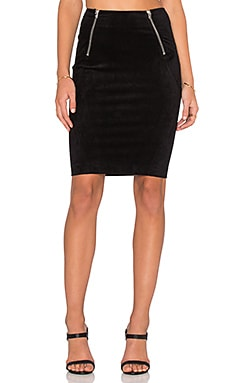 T by Alexander Wang Scuba Mini Skirt in Black
