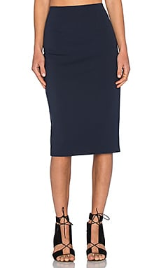 T by Alexander Wang Ponte Pencil Skirt in Marine