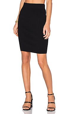 T by Alexander Wang Midi Skirt in Black