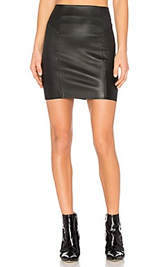 Nappa Mini Skirt in Black