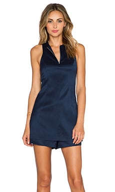 T by Alexander Wang Zip Romper in Ink