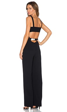 T by Alexander Wang Cutout Bandeau Jumpsuit in Black