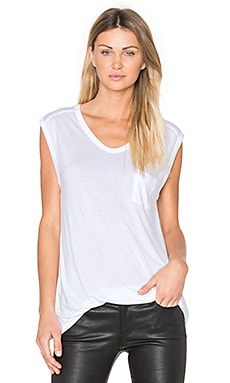 Muscle T with Pocket in White