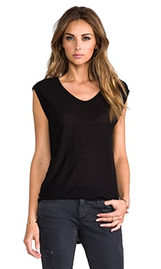 Slub Classic Muscle Tee in Black