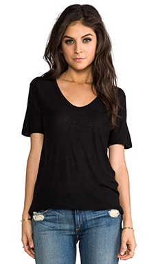 T by Alexander Wang Slub Classic Tee in Black