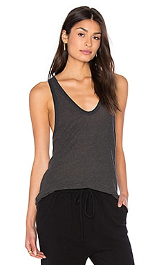 T by Alexander Wang Slub Classic Tank in Charcoal
