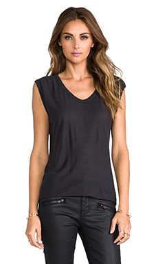 Slub Classic Muscle Tee in Charcoal