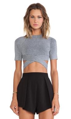 Crisscross Short Sleeve Top