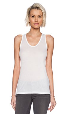 T by Alexander Wang Soft Melange Rib Tank in White