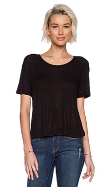 T by Alexander Wang Soft Melange Rib Oversize Tee in Black