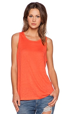 T by Alexander Wang Oversized Tank in Coral