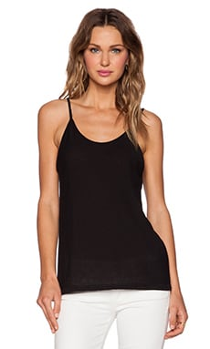 T by Alexander Wang Lightweight Cami in Black